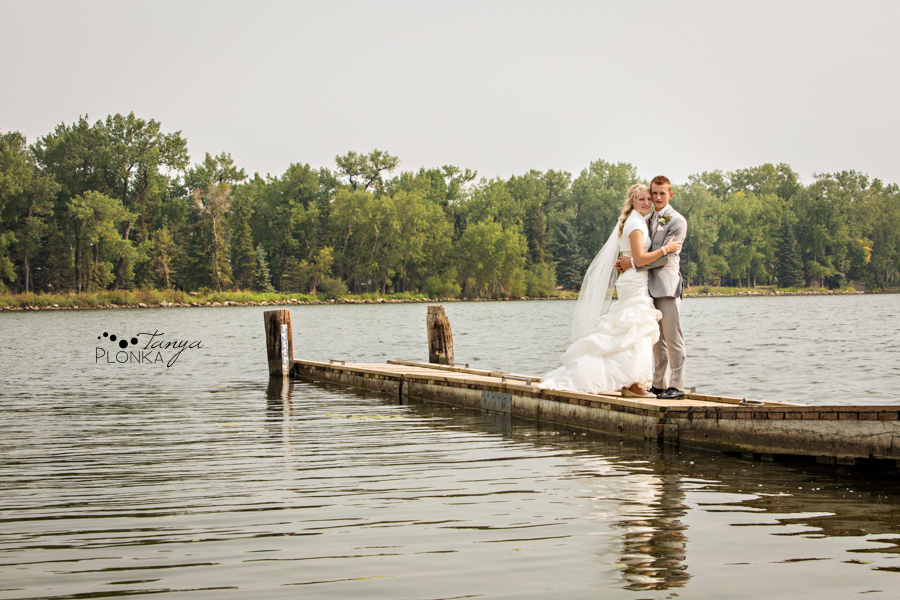 Jeremy & Emily, Park Lake Alberta dock wedding photography