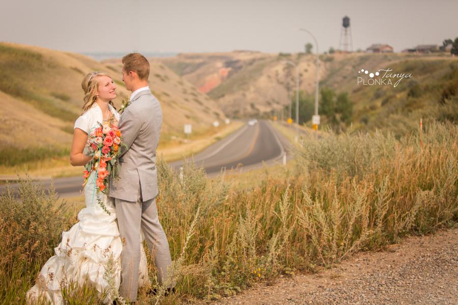 Jeremy & Emily, Lethbridge Bridge Drive wedding photo