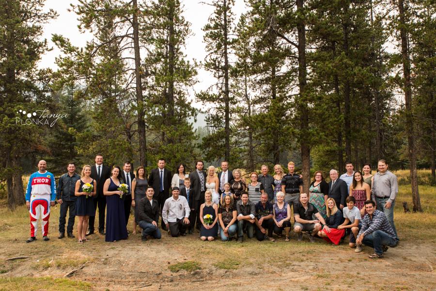 Freddie & Stef, Crowsnest Pass outdoor camp wedding