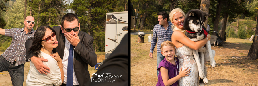 Freddie & Stef, Crowsnest Pass forest wedding photos