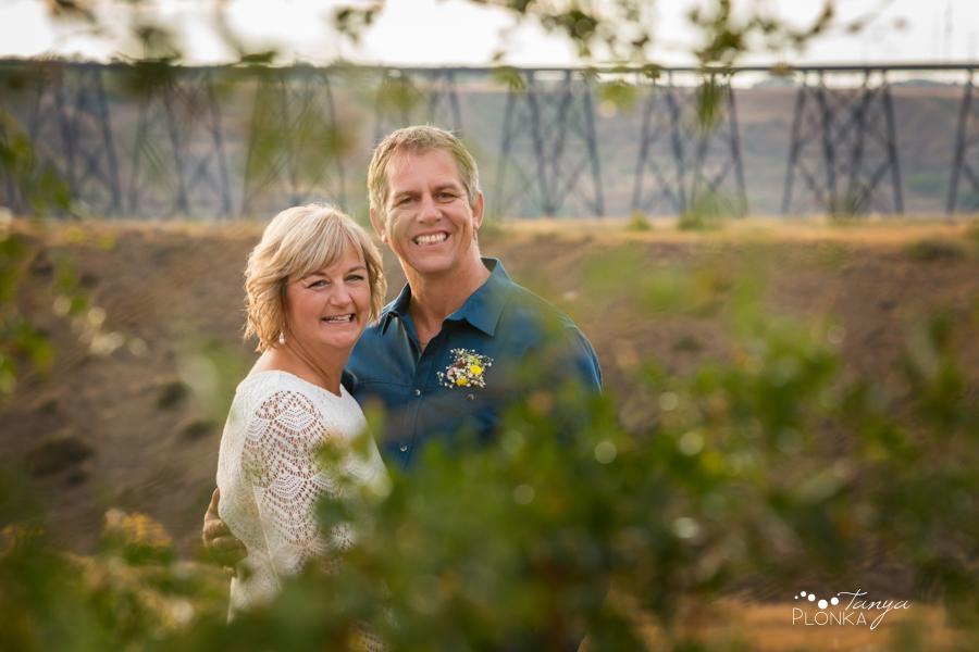 Brian & Margot, Galt Museum outdoor evening wedding photos