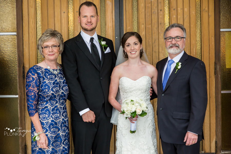 Evan & Emily, elegant Calgary Catholic family wedding photos