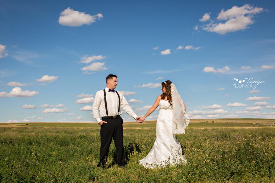 Samantha & Chad, rural Milk River wedding photos