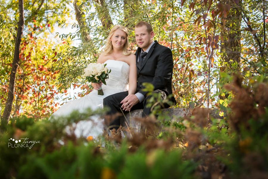 Lasca & Greg, autumn Galt Museum wedding photos
