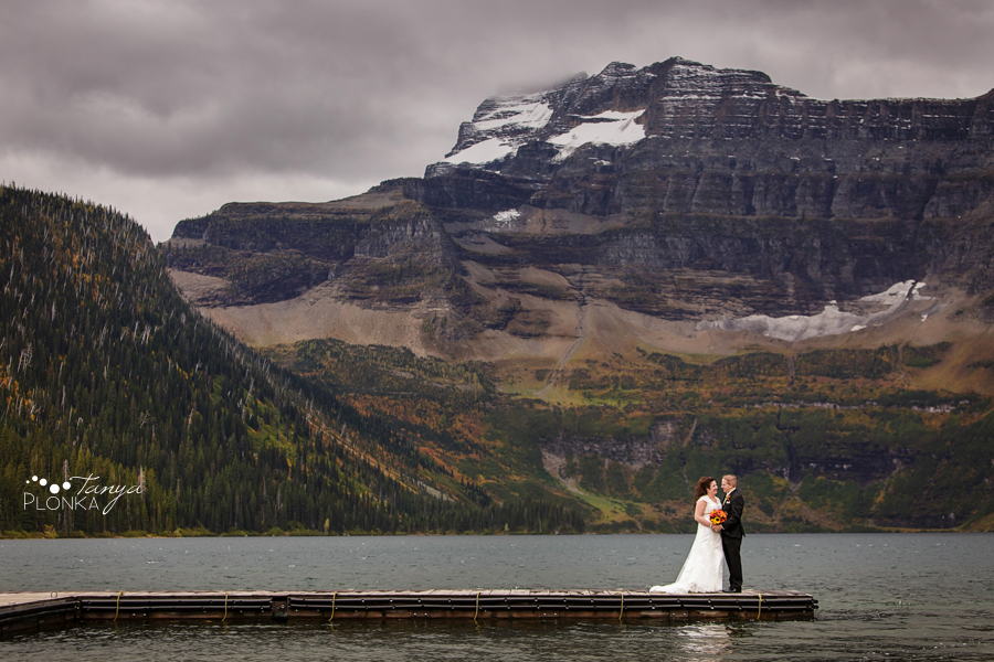 Kevin & Ashley, autumn Waterton Lakes wedding