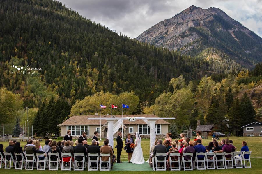 Kevin & Ashley, outdoor autumn Waterton Lakes Lodge wedding photos
