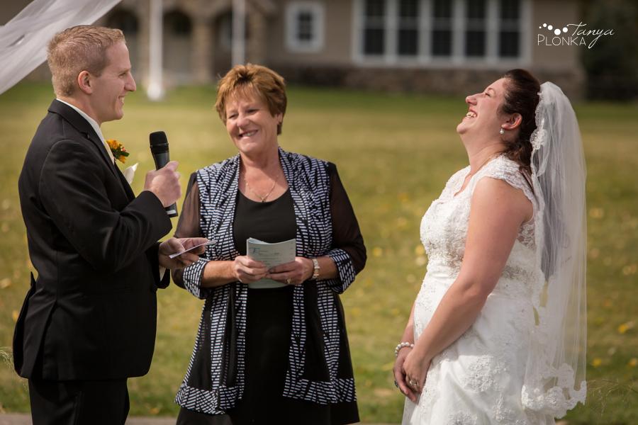 Kevin & Ashley, outdoor autumn Waterton Lakes Lodge wedding