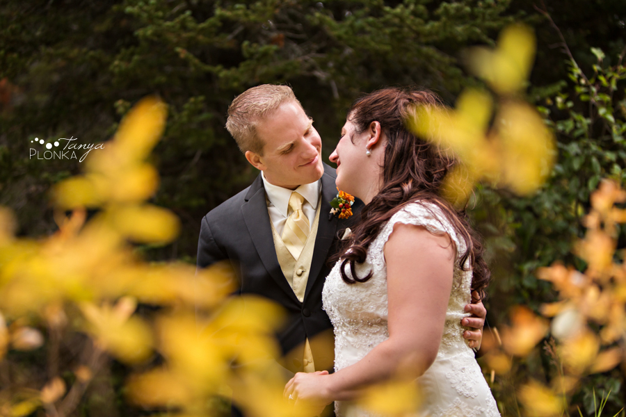 Kevin & Ashley, autumn Waterton Lakes wedding photos