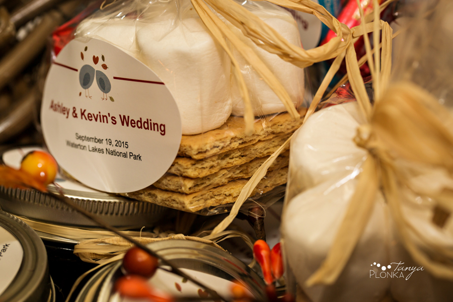 Kevin & Ashley, autumn Waterton wedding reception