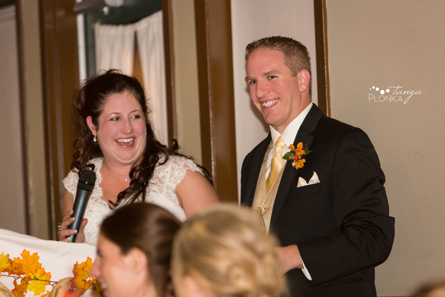Kevin & Ashley, autumn Waterton Lakes Lodge wedding reception photography