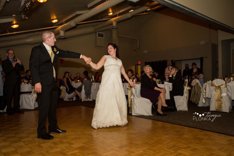 Kevin & Ashley, autumn Waterton Lakes wedding reception
