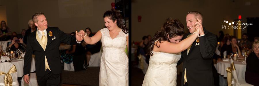 Kevin & Ashley, autumn Waterton Lakes Lodge wedding reception photos