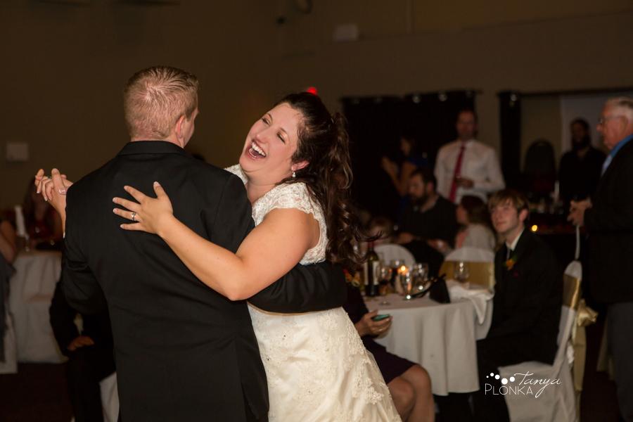 Kevin & Ashley, autumn Waterton Lakes Lodge wedding reception