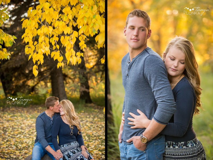 Park Lake fall engagement photos