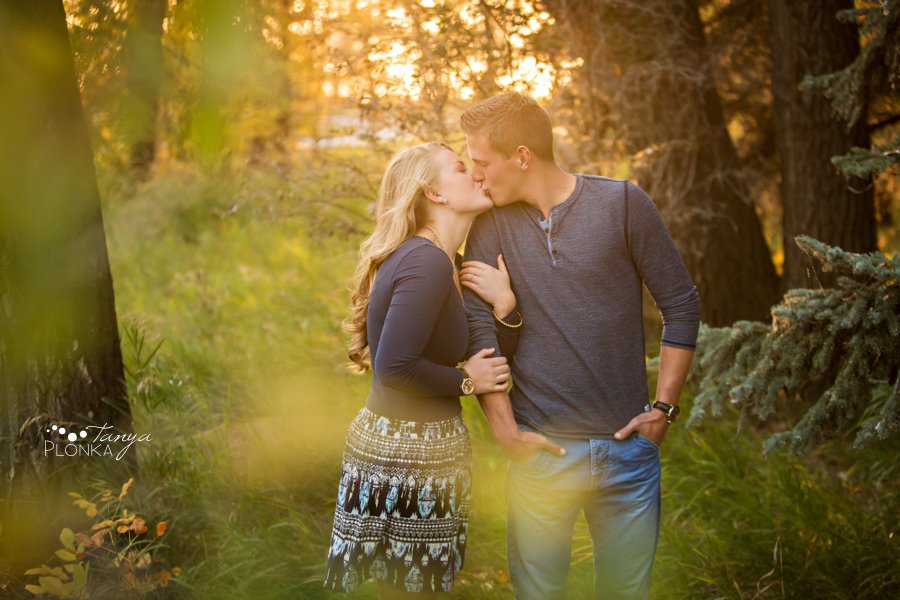Park Lake autumn engagement photography