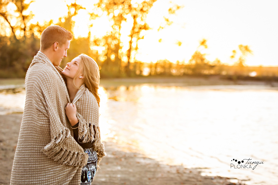Lethbridge autumn beach engagement session