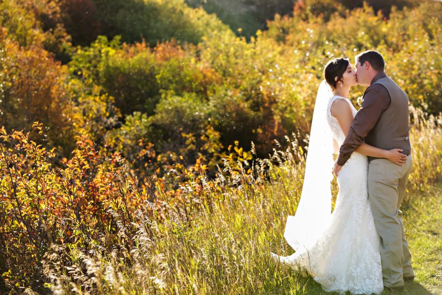 Jocelyn and Frank, Picture Butte autumn outdoor wedding