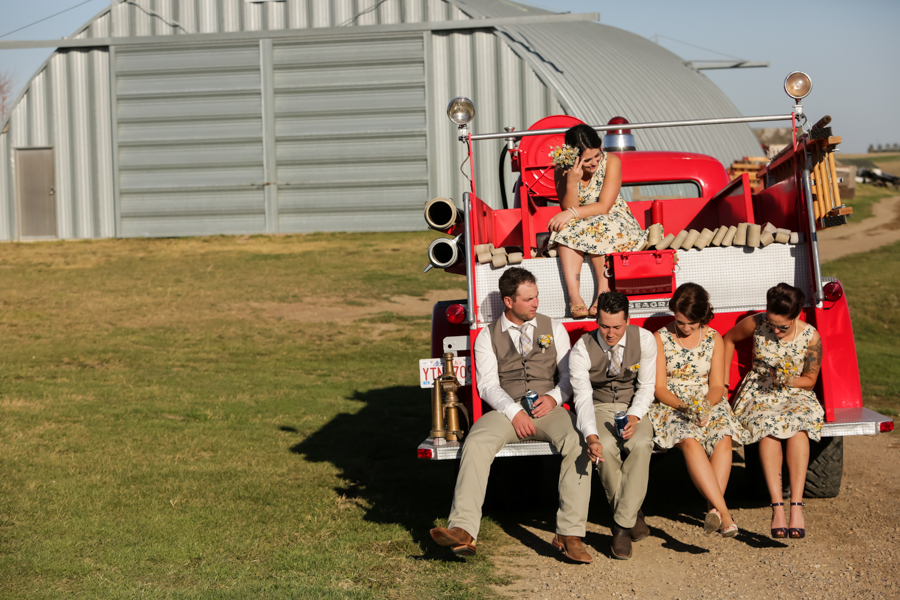 Jocelyn and Frank, Picture Butte Prairie Tractor & Engine Museum wedding
