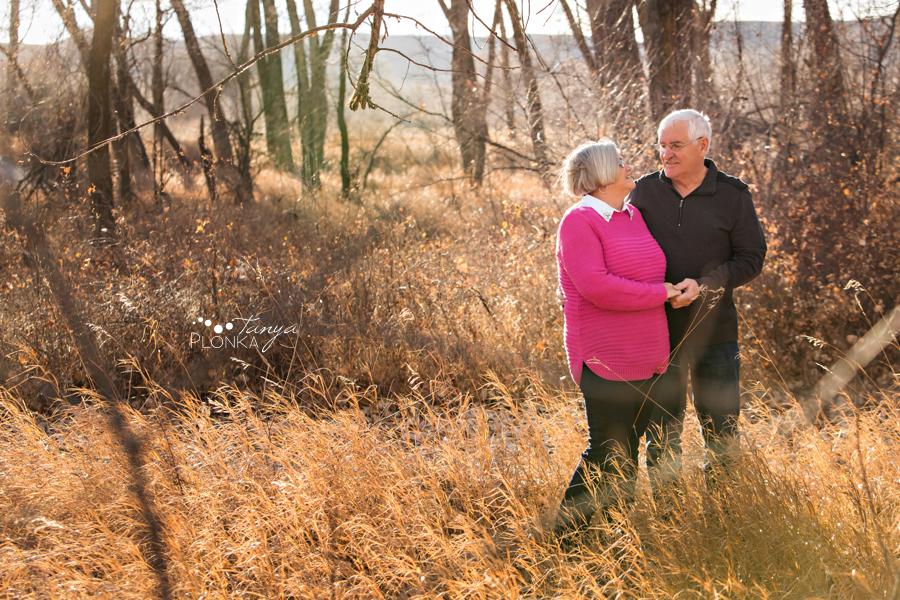 grandparents Pavan Park autumn portraits