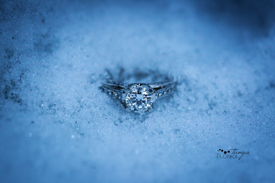 Crowsnest Pass winter engagement photography