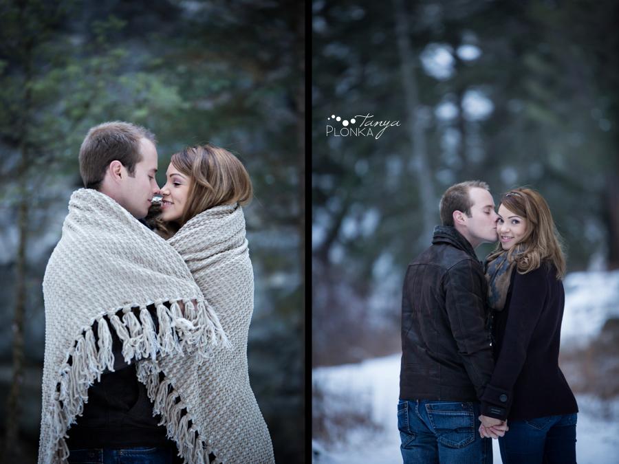 Coleman  winter engagement photos