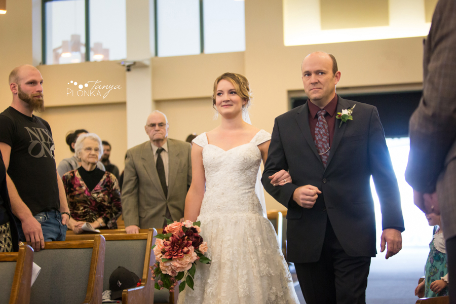 Annelies & Kyle, Coaldale indoor winter wedding