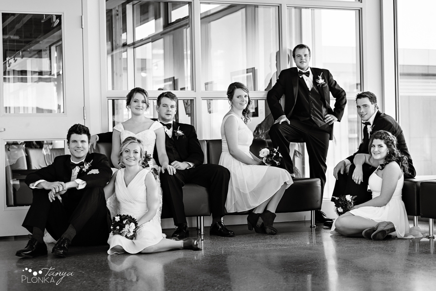 Annelies & Kyle, Lethbridge indoor winter wedding photos