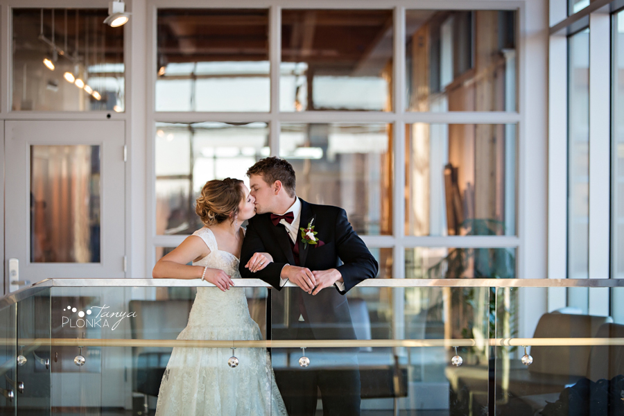Annelies & Kyle, Lethbridge indoor winter wedding photography