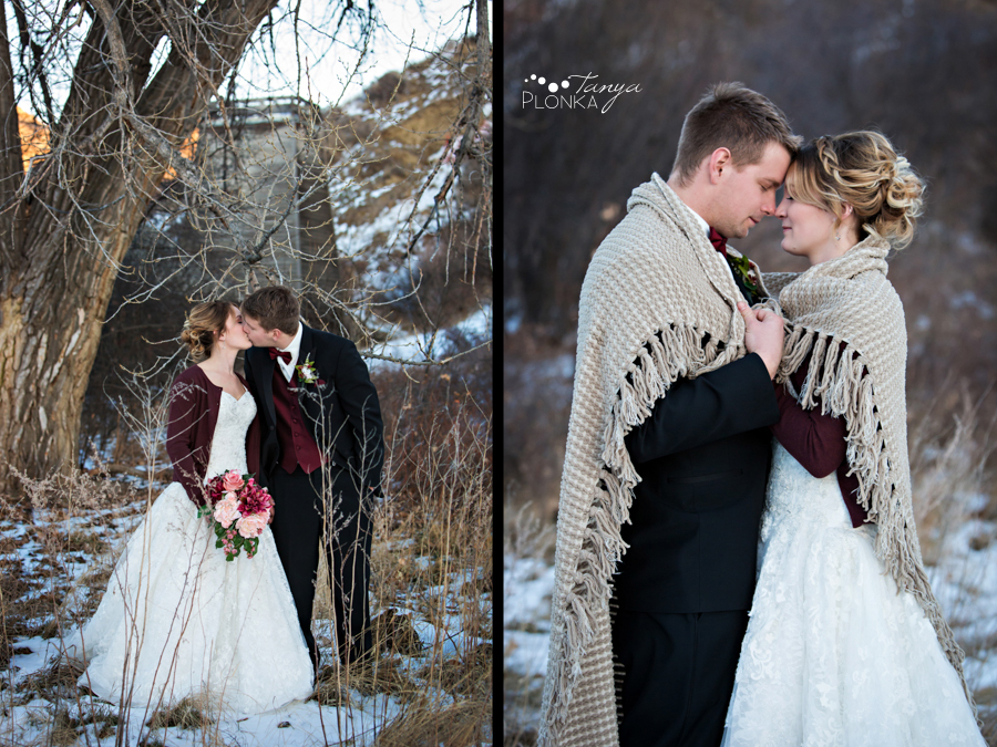 Annelies & Kyle, Lethbridge outdoor winter wedding photos