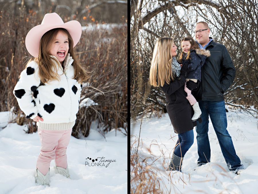 Lethbridge snowy family photo session