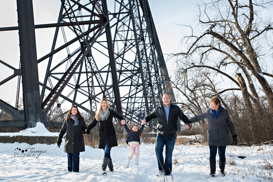 Lethbridge snowy family photos