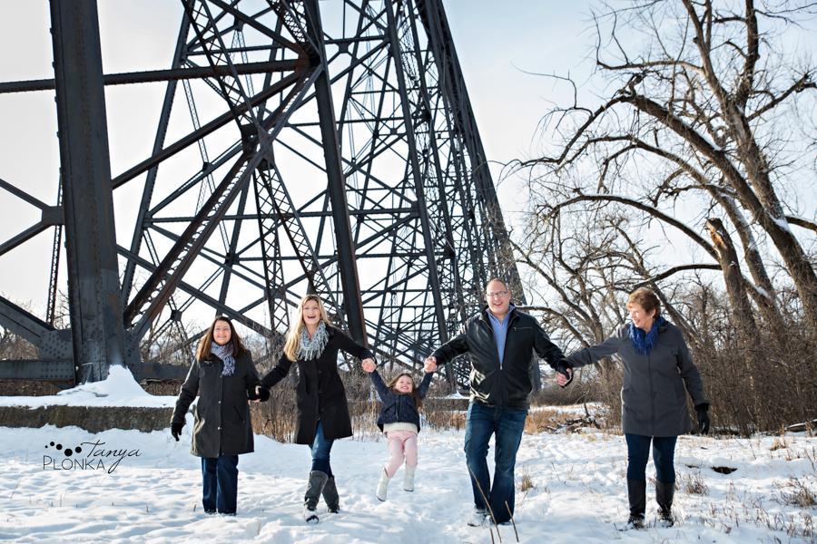Lethbridge snowy family photos