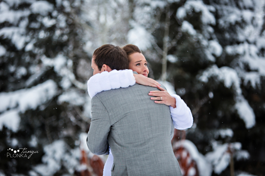 Lanna & Mike, Pincher Creek snowy winter wedding
