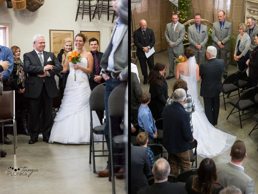 Lanna & Mike, Pincher Creek Bloomin' Inn snowy winter wedding photography