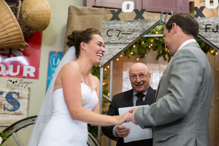 Lanna & Mike, Pincher Creek Bloomin' Inn winter wedding photography