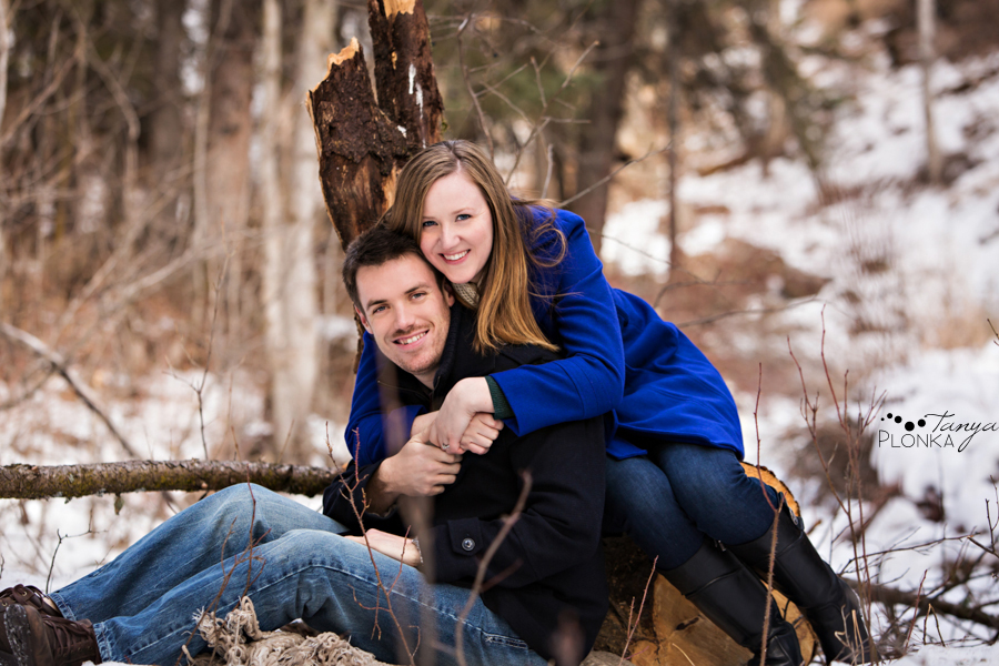 Coleman Miner's Path winter engagement photography