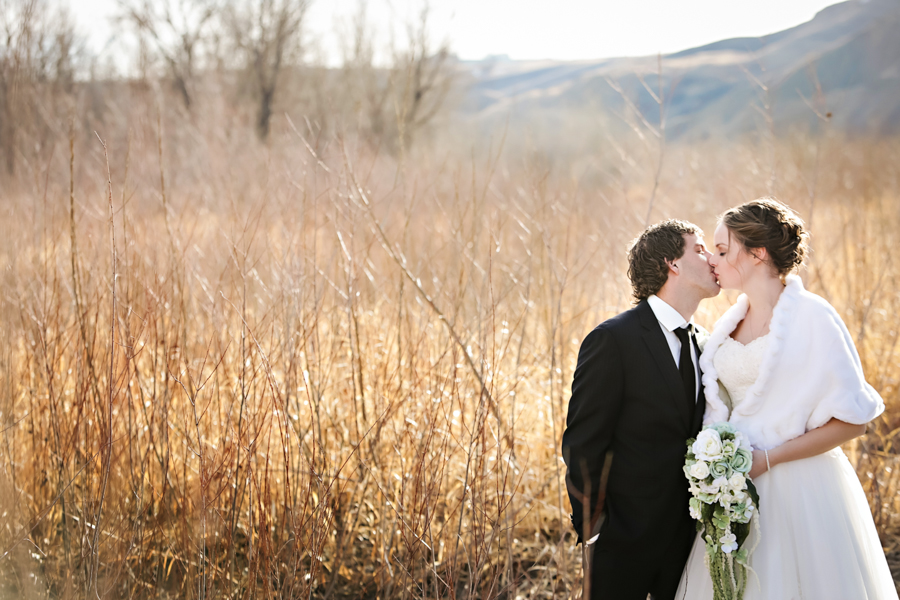 Chaisson & Krystal, Coaldale warm winter wedding