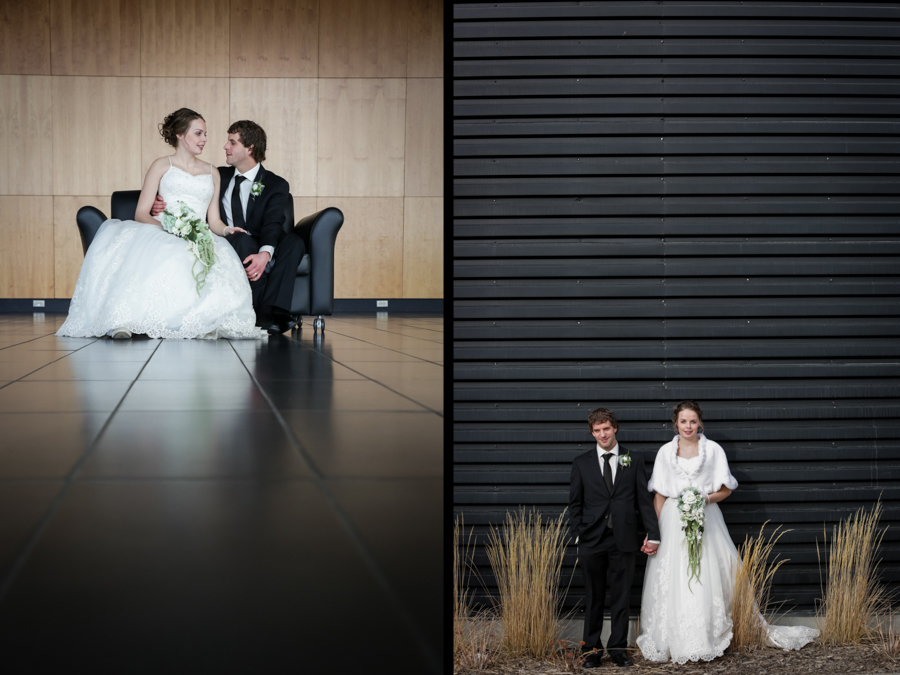 Chaisson & Krystal, Galt Museum indoor wedding photos