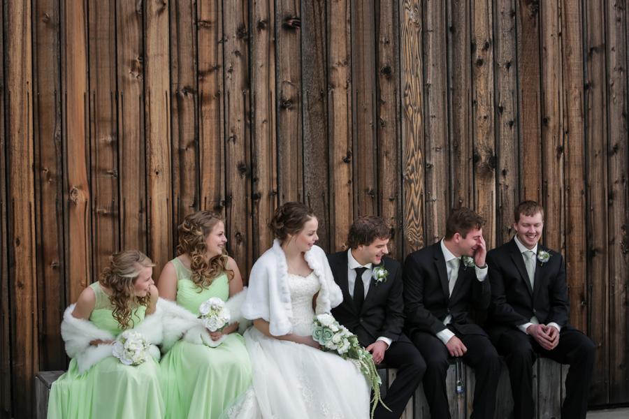 Chaisson & Krystal, Galt Museum outdoor wedding photos