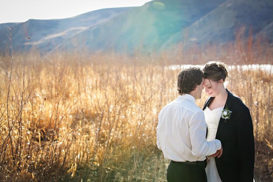 Chaisson & Krystal, Lethbridge warm winter wedding