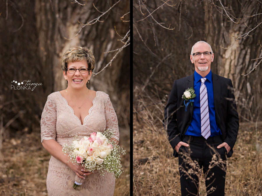 Rob & Kathy, Indian Battle Park outdoor winter wedding
