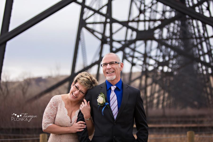 Rob & Kathy, Indian Battle Park winter wedding