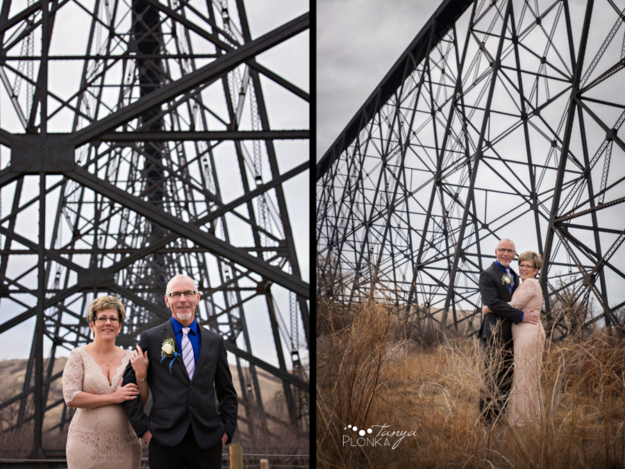 Rob & Kathy, Lethbridge Indian Battle Park winter wedding photography
