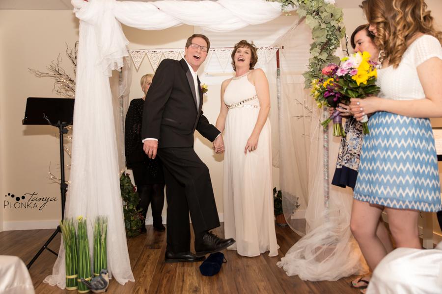 Gail & Stephen, Lethbridge home spring wedding photography
