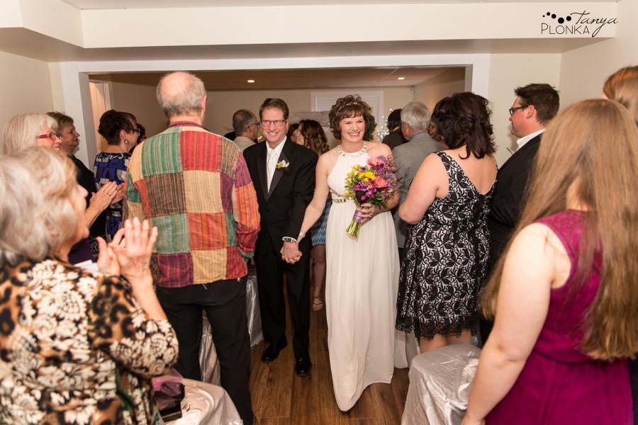 Gail & Stephen, Lethbridge private home wedding photography