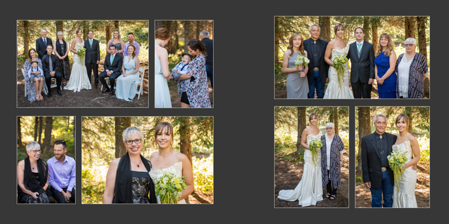 Jori and Shawn Castle Mountain wedding album