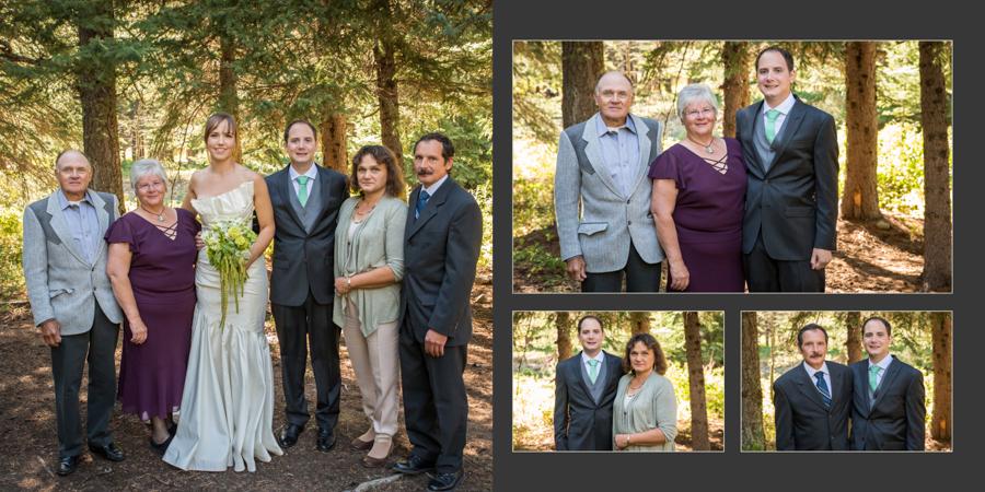 Jori and Shawn Castle Mountain wedding album