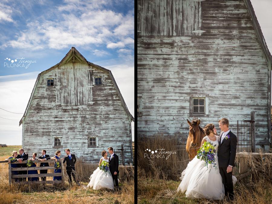 Jamie and Sylvia, Picture Butte spring blossom wedding photography