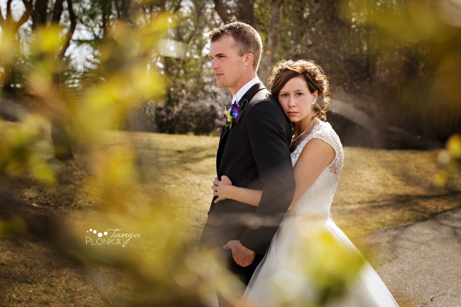 Jamie and Sylvia, Lethbridge spring blossom wedding photography