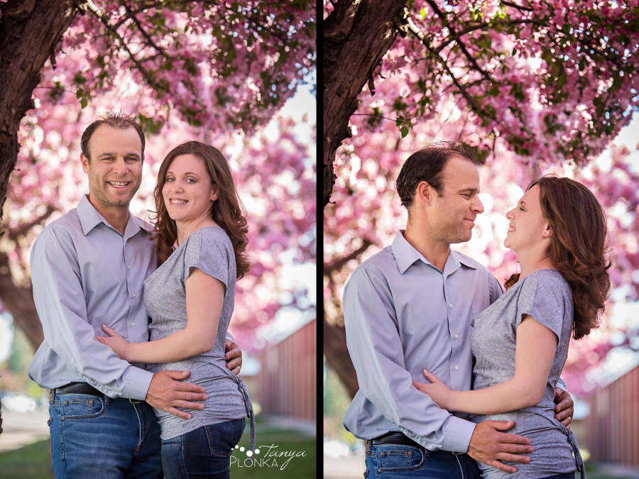 Lethbridge spring blossom family photos